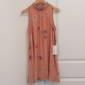 Coverstitched Dusty Pink Tunic Dress